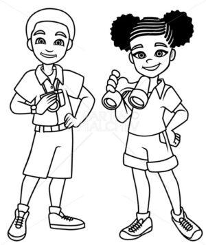 Adventure Kids Black Line Art - Martin Malchev