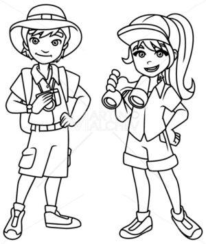 Adventure Kids Line Art - Martin Malchev