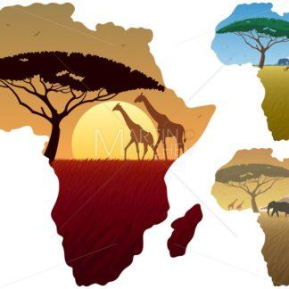 Africa Map Landscapes - Martin Malchev