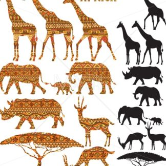African Animal Silhouettes - Martin Malchev