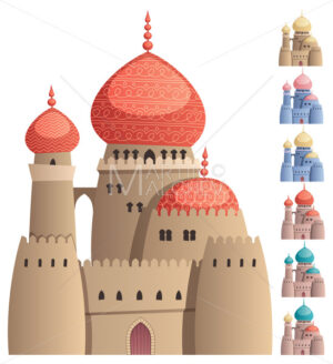 Arabian Castle on White - Martin Malchev