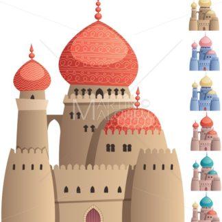 Arabian Castle on White - Martin Malchev