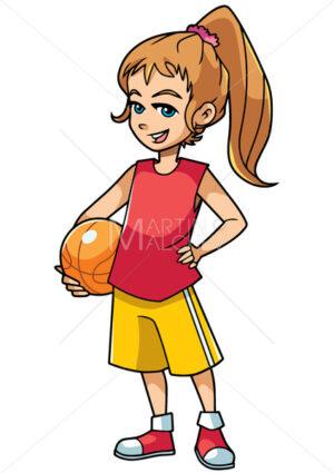 Basketball Girl On White - Martin Malchev