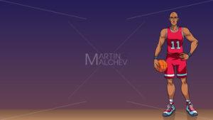 Basketball Player Background - Martin Malchev