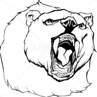 Bear Head Illustration - Martin Malchev