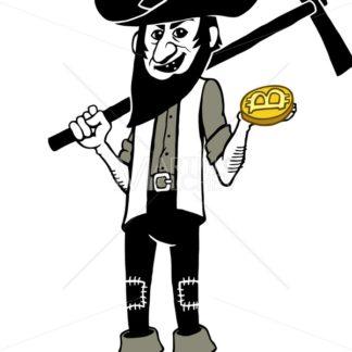 Bitcoin Miner Cartoon - Martin Malchev