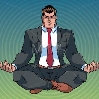 Businessman Meditating with Background - Martin Malchev