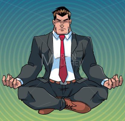 Businessman Meditating with Background - Martin Malchev