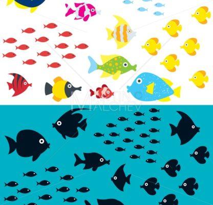 Cartoon Fish Set - Martin Malchev
