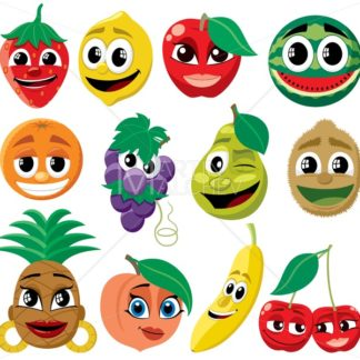 Cartoon Fruits - Martin Malchev
