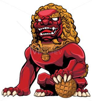 Chinese Lion Red - Martin Malchev
