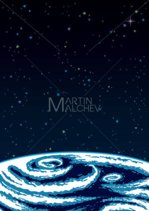 Earth Space Background - Martin Malchev