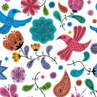 Floral Doodles Pattern - Martin Malchev