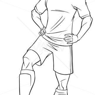 Football Player Line Art - Martin Malchev