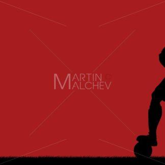 Football Player Silhouette Background - Martin Malchev