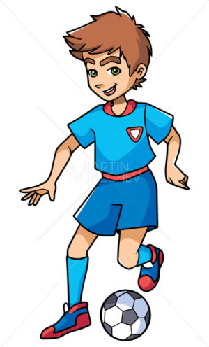 Football Playing Boy - Martin Malchev