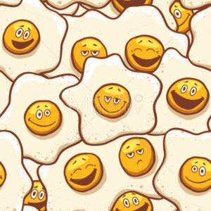 Fried Eggs Background Seamless - Martin Malchev