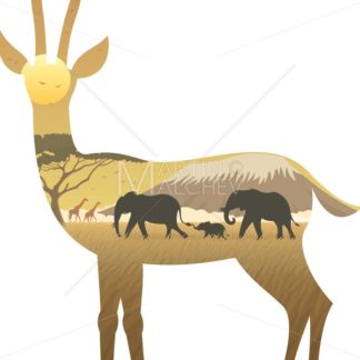 Gazelle Landscape - Martin Malchev