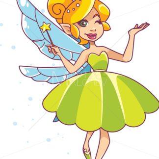 Green Fairy on White - Martin Malchev