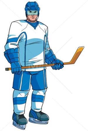 Hockey Player Illustration - Martin Malchev