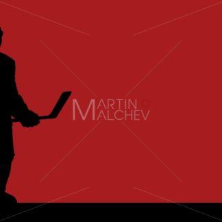 Hockey Player Silhouette Background - Martin Malchev