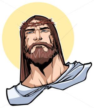 Jesus Portrait Illustration - Martin Malchev