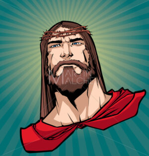 Jesus Superhero Portrait 2 - Martin Malchev