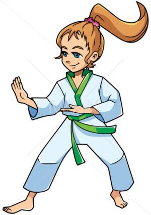 Karate Stance Girl - Martin Malchev