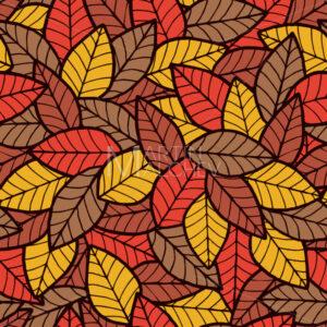 Leafs Seamless Pattern Autumn - Martin Malchev