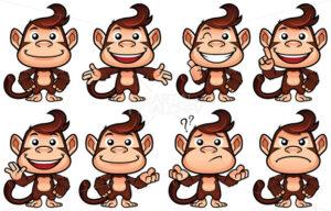Monkey Cartoon Set - Martin Malchev