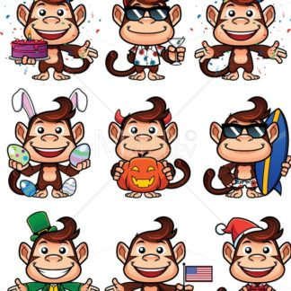 Monkey Holiday Set - Martin Malchev