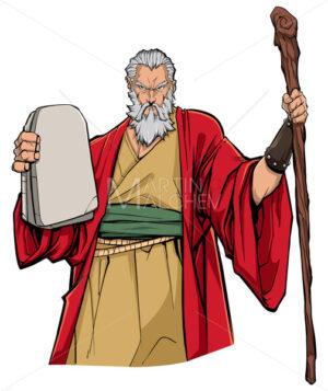 Moses Portrait Illustration - Martin Malchev
