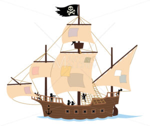 Pirate Ship on White - Martin Malchev