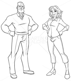 Senior Couple Line Art - Martin Malchev
