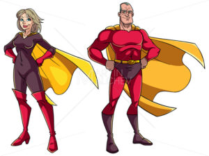 Senior Superhero Couple on White - Martin Malchev