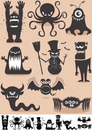 Silhouette Monsters - Martin Malchev