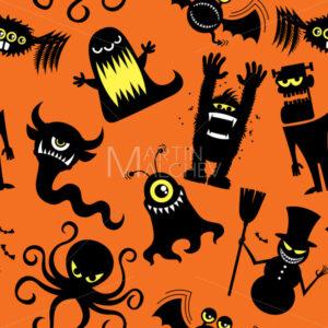 Silhouette Monsters Pattern - Martin Malchev