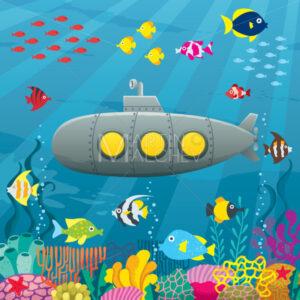 Submarine Cartoon Background - Martin Malchev