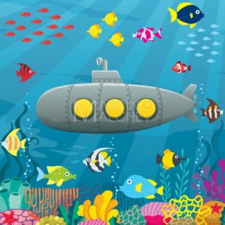 Submarine Cartoon Background - Martin Malchev