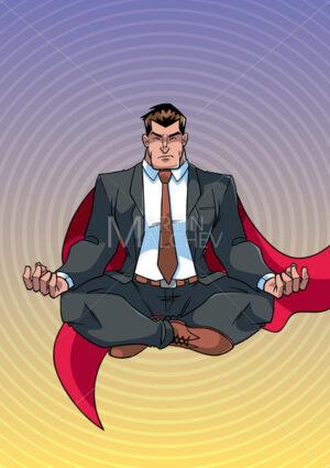 Super Businessman Meditating - Martin Malchev