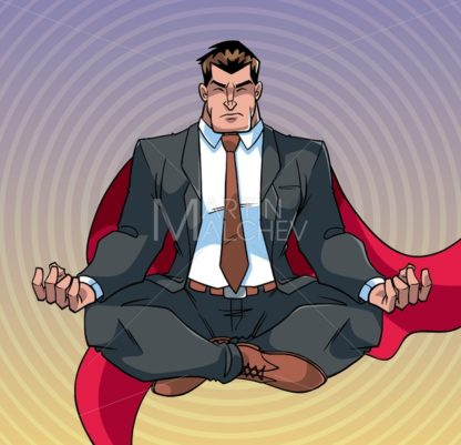 Super Businessman Meditating - Martin Malchev