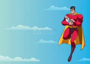 Super Dad with Baby in Sky - Martin Malchev