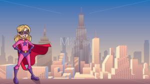Super Girl City Background - Martin Malchev