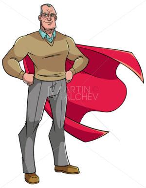 Super Grandpa Illustration - Martin Malchev