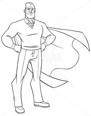 Super Grandpa Line Art - Martin Malchev