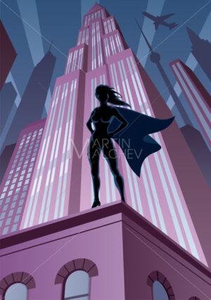 Super Heroine in City - Martin Malchev