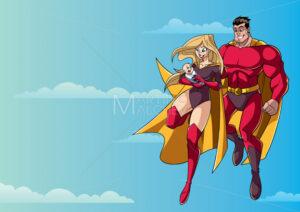 Super Mom Dad and Baby in Sky - Martin Malchev