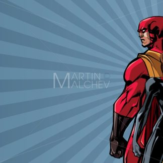 Superhero Couple Ray Light Background - Martin Malchev