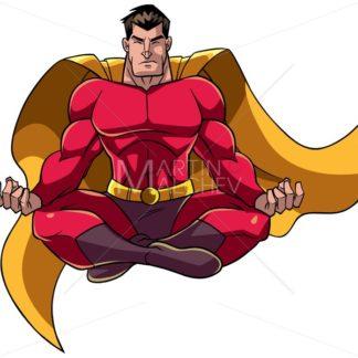 Superhero Meditating Illustration - Martin Malchev