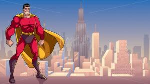 Superhero Standing Tall in City - Martin Malchev